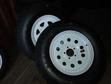 "New 15"" Radial Trailer Spare Tire on Wheel- 5-Lug 205/75/R15"