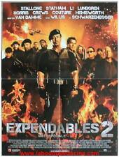 EXPENDABLES 2 Affiche Cinéma / Movie Poster SYLVESTER STALLONE / SCHWARZENEGGER