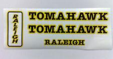 "Raleigh ""TOMAHAWK"" bike decals/stickers (Yellow/Black)"