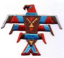 SOUTHWESTERN TOTEM BIRD EMBROIDERED IRON ON PATCH - STYLE B
