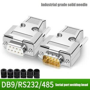 DB9 Connector metal shell RS 232 serial port plug 9-pin serial port welding head