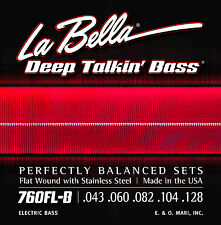 LA BELLA 760FL-B DEEP TALKIN' FLATWOUND BASS STRINGS, LIGHT GAUGE 5's - 43-128