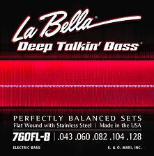 LA BELLA 760FL-B DEEP TALKIN' FLATWOUND BASS STRINGS, LIGHT GAUGE 5's - 43-128