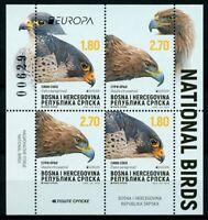 Bosnia & Herzegovina Srpska Stamps 2019 MNH Birds Europa Eagles Falcons 4v M/S