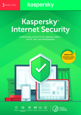Kaspersky Internet Security 2020-21 3 PC Geräte 1 Jahr  Download Version  EMAIL