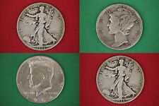 MAKE OFFER $100.00 Face Value 1964 Kennedy Mercury Walking Junk 90% Silver Coins