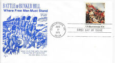 U.S.A.F.D.C.17/6/1975; BATTLE OF BUNKER HILL; SG 1562; CHARLESTOWN CANCEL.