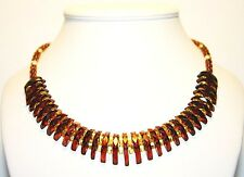 Luxury Baltic Amber Adult Necklace, Cognac Faceted Beads Cleopatra 45 cm