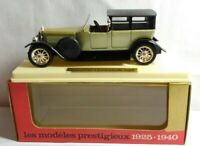 SOLIDO AGE D'OR DIECAST 1:43 SCALE 1925 PANHARD LEVASSOR - GREEN / BLACK - 140