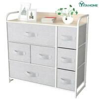 YITAHOME Storage Dresser Tower Shelf Organizer Bins Cabinet Fabric Drawers Home