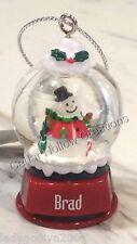 Personalized Snow Globe Ornament - Bill - FREE Shipping