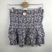 Divided by H&M Juniors Black Skirt Floral Print Women's Size 8 Stretch Waist