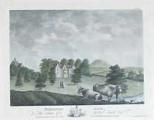 OLD ANTIQUE PRINT NORMANTON HALL RUTLAND c1791 by THROSBY / WALKER ENGRAVING