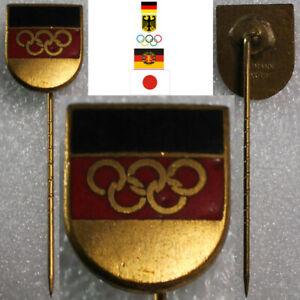 OLYMPISCHE SPIELE ANSTECKNADEL TOKIO JAPAN 1964 NOC TEAM DEUTSCHLAND DDR BRD