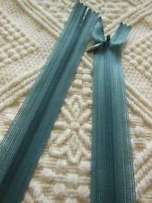 fermeture éclair 50 cm bleu gris foncé invisible non- séparable   A9