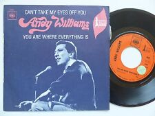 ANDY WILLIAMS Can't take my eyes off you CBS3298 Pressage France rrr