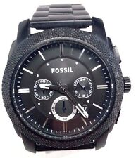 Fossil Chronograph Black ion-plated Mens Watch FS4552 Crown is Stiff