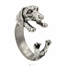 Dachshund Dog Wrap Around Ring