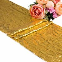 5 10 20 Gold Sequin Table Runners Glitter Sparkly Bling Wedding Party Decoration