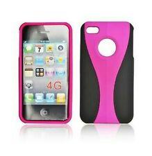 Hülle Cover Etui IPHONE Schutz 4 4G 4S Kombinationsfeld Rosa Pink 2 Teile