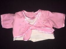 Friends 2B Made Build Bear ~ Doll Clothes Bling Pink WhiteTop Shirt