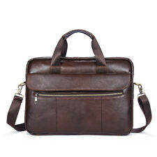 Herren Tasche Echt Leder Aktentasche Schultertasche Umhängetasche Messenger Bag