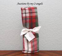 NEW Pottery Barn Christmas Holiday DENVER PLAID Tartan Throw Blanket RED GRN IVY