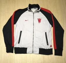 Vintage 2000s Nike Manchester United Red Devils Black Track Warm Up Jacket L