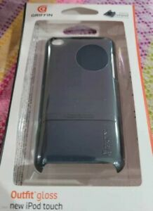 NEW GRIFFIN OUTFIT GLOSS IPOD TOUCH HARDSHELL CASE BLACK MICRO STAND INCLUDED