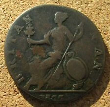 More details for non regal george iii britan nan error / evasion 1773/7 ? half penny 7.2 gms