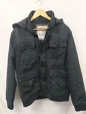 McKenzie  Mens Bomber Hooded Jacket Coat Black Size Large #4O2