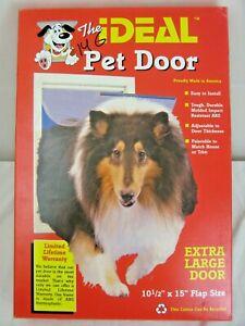 "The Ideal Pet Door XL Clear Magnetic Pet Door 12.5"" x 15"" NEW in Box made in USA"
