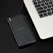 10000mAh Portable Qi Wireless Fast Charger Dual USB External Battery Power Bank