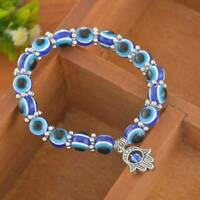 Charm Evil Eye Beaded Protection Good Luck Bracelet Jewelry Stretch Bracelets B7
