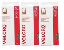 """NEW Lot of 3 packs VELCRO  Sticky Back  5/8"""" Coins 75 Sets per pack - Clear"""