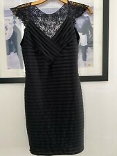 Womens Lipsy Black Dress Crochet Back Size 10 Pretty Party Holiday Clubbing VGC