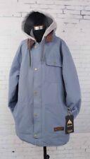 Burton Dunmore Snowboard Jacket Men's Extra Large XL, La Sky Gray New
