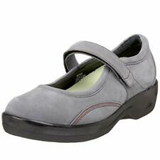 New Women Ambulator Apex Gray Suede Mary Jane Shoe Size 10 Wide