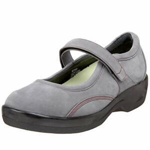 New Women Ambulator Apex Gray Suede Mary Jane Shoe Size 10 Wide