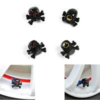 4pcs Skull Truck Tire Air Wheel Stem Tyre Valve Dust Cap for Auto Car Truck Bike