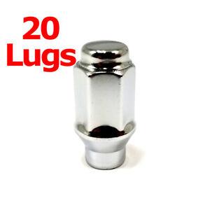 """20x Excalibur 7807 Lug Nuts 12x1.50 Bulge Acorn 3/4"""" Hex Chrome Closed End ET"""