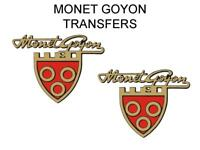 Monet Goyon Tank Transfers Decals Motorcycle Sold as a Pair Shield and Script