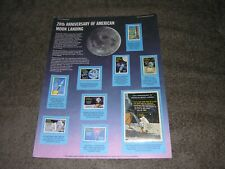 20th Anniversary of American Moon Landing-Vintage-Grenada Stamps-Postal Society