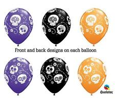 10 NEW Day of the Dead Latex Balloons DIA de LOS muertos SUGAR SKULLS Free Ship