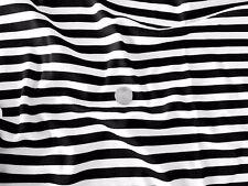 BLACK & WHITE Stripe 100% COTONE INTERLOCK Jersey Tessuto-T-shirt, pigiami