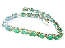 18.65ct Emerald & Diamond Bracelet in 14K White Gold