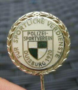 Ehrennadel vom Polizei-Sportverein Duisburg 1920      FV Niederrhein  emailliert