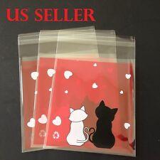 25 pc 10x10cm Cartoon Kitty Self Seal Plastic Valentine Gift Bag  Packing  B5