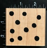 SOLID DOTS PATTERN Wood Mounted Rubber Stamp