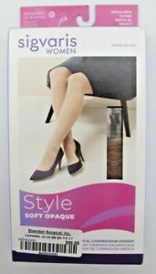 Sigvaris SS 20-30 mmHg Caramel Style Soft Opaque Compression Socks 842 Thigh